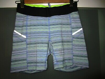 $ CDN22.39 • Buy Lululemon Blue Striped Shorts Sz 6 Very Good Pre-Owned Condition