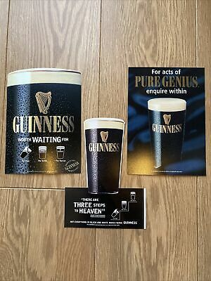 £16.99 • Buy Guinness Stickers Vintage *RARE* Window Stickers