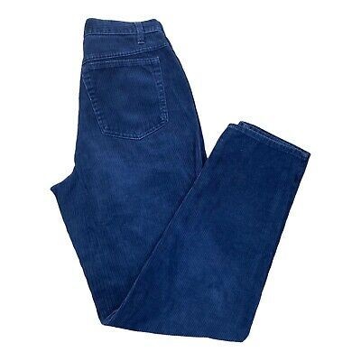 $27.50 • Buy Vtg United Colours Of Benetton Blue Corduroy Tapered Pants Trousers Size W28 L31