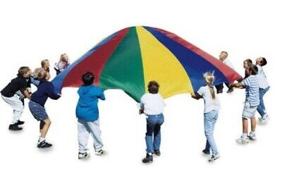 £13.99 • Buy 6ft Kids Play Rainbow Parachute Outdoor Game Exercise Sport Group Activities New