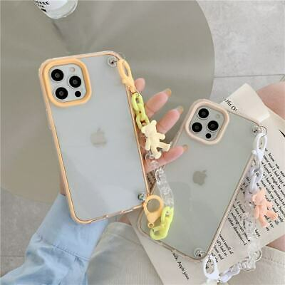 AU8.40 • Buy 3 In 1 Clear TPU Bear Chain Phone Cover Case For IPhone 12 Pro Max 7/8+ 11 XS XR