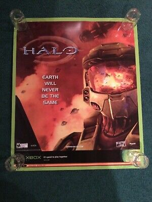 £731.53 • Buy 2004 Microsoft Xbox Halo 2 Toys R Us Promo 30x36 Poster With Shipping Box