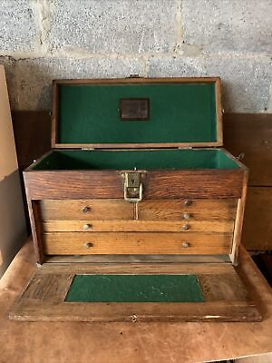 $200 • Buy Antique Machinist Tool Chest Felt Lined