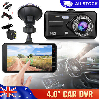 AU47.95 • Buy Car Dash Camera DVR Touch Recorder Front And Rear Cam Reversing Mirror Dual Lens