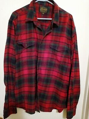 $12.99 • Buy Lucky Brand Saturday Stretch Men's Red Flannel Shirt. Size XXL.