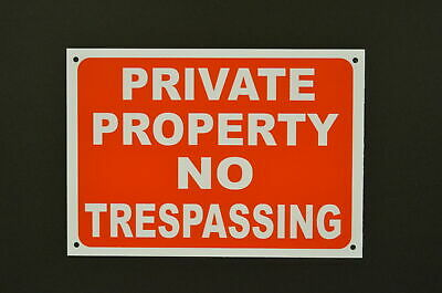 £2.99 • Buy PRIVATE PROPERTY NO TRESPASSING Sign Or Sticker 300mmx200mm Access No Entry