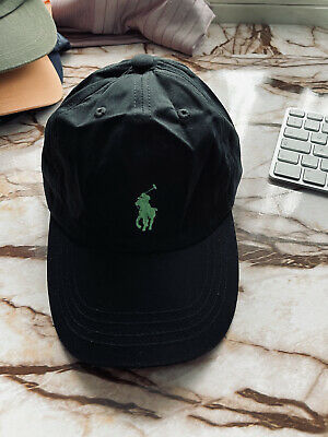 £10.99 • Buy Polo Ralph Lauren Cap Hat, Black With Green Logo New Without Tag