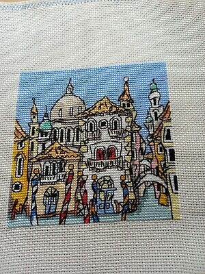 £10 • Buy Finished Completed Cross Stitch - Mini Venice Street (Michael Powell Design)