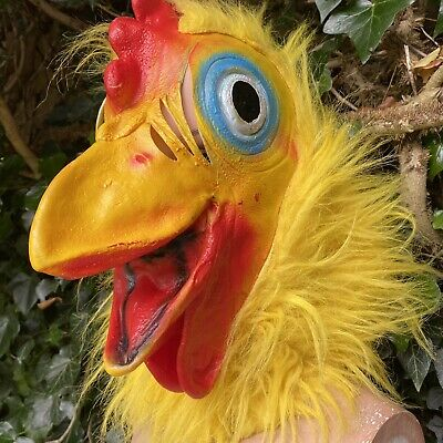 £8.99 • Buy Rubber Adult Realistic Chicken Fancy Dress/ Cosplay Mask