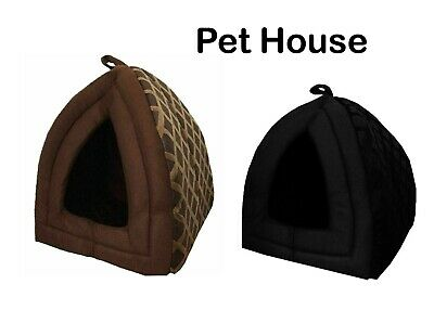 £8.98 • Buy Cat Small Dog House Bed Kitten Pet Igloo Box Cave Puppy Sleeping Cosy Hut