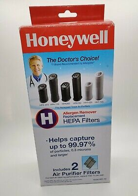 £18.28 • Buy 2 New Honeywell Air Purifier Replacement HEPA Filters Allergen Remover HRF-H2