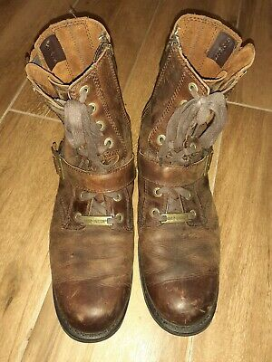 $ CDN81.83 • Buy Harley Davidson Faded Glory Men's Brown Leather Boots Size 11 1/2 USA