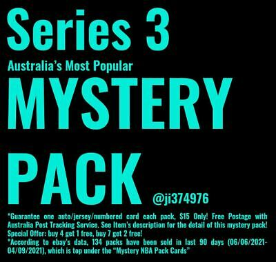 AU15 • Buy NBA Mystery Pack 10 Cards(1 Auto/Jersey/Numbered + 9 Base) $15 Only!! Series 3!!