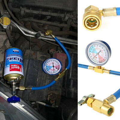 £11.99 • Buy Car Vehicle Air Conditioning Refrigerant Recharge Kit A/C R134a Hose Gas Gauge