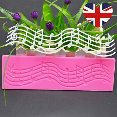 £3.99 • Buy Music Musical Note Notes Silicone Cake Mold Decorate Mould Topper Resin Melts