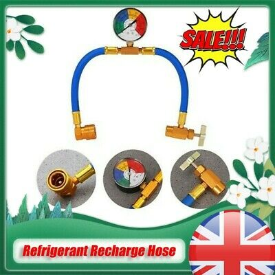 £10.99 • Buy R134A Auto Air Conditioner Refrigerant Charge Hose Oil Hose Adapter With Gauge