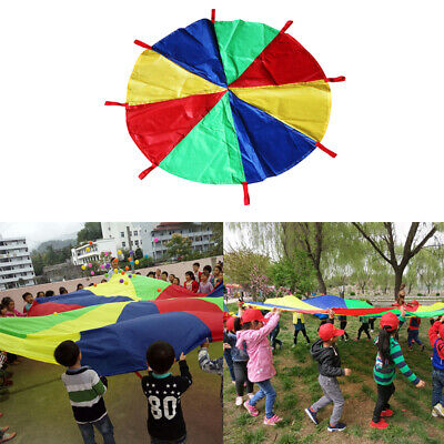£10.12 • Buy 6~16 Foot Multicolored Kids Play Parachute With 8 Handles Cooperative Games