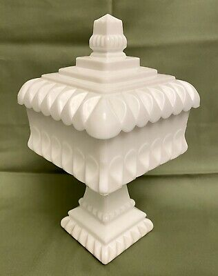 $29.97 • Buy Vintage Westmoreland Milk Glass Pedestal Square Compote Candy Dish W/ Lid