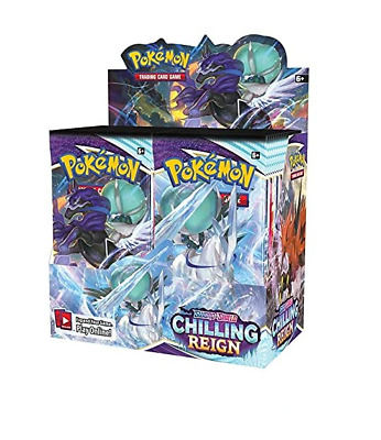 AU200 • Buy POKEMON TCG Sword And Shield Chilling Reign Booster Box NEW Sealed