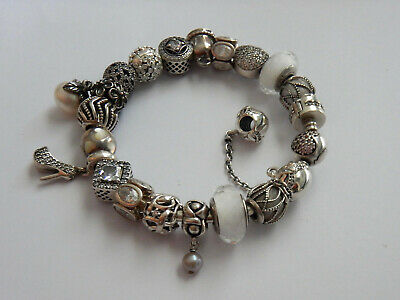 AU38 • Buy Choice Of GENUINE PANDORA Sterling SILVER & WHITE Charms. MOST RETIRED