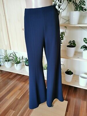 AU99.95 • Buy Scanlan Theodore Navy Chiori Cropped Wide Leg Pant Size 6