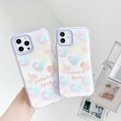 AU7.91 • Buy 3 In 1 Love Heart TPU+PC Soft Phone Cover Case For IPhone 12 Pro Max 7+ 11 XS XR