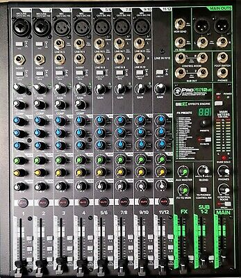 $180.50 • Buy Mackie ProFX12v3 12-Channel Pro Effects Mixer With Analog USB