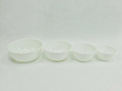 $9.99 • Buy (4) VNTG Unmarked Milk Glass Mixing Bowls