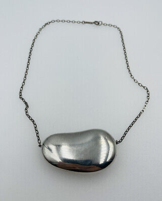 """£323.87 • Buy Tiffany & Co Vintage Peretti Sterling Silver Huge XL Bean Necklace 2"""" / 50mm"""