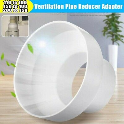 £6.83 • Buy Reducer Adapter Increaser Extractor Fan Ventilation Pipe Connector Steel Ducting