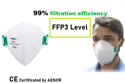£3.99 • Buy FFP3 Face Mask White Safety CE Protection Filter Dust Mouth Cover Respirator