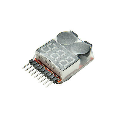 £2.74 • Buy RC Lipo Battery Low Voltage Alarm 1S-8S Buzzer Indicator Checker Tester LED N AP