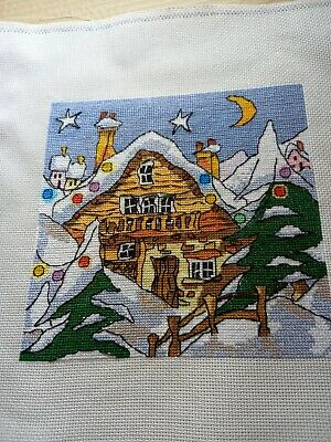 £10 • Buy Finished Completed Cross Stitch - Chalet (Michael Powell Design)