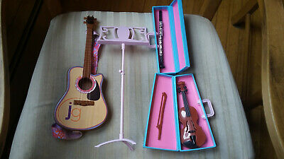 $ CDN18.88 • Buy Journey Girl Accessories Lot Music Stand Guitar Violin & Flute In Cases