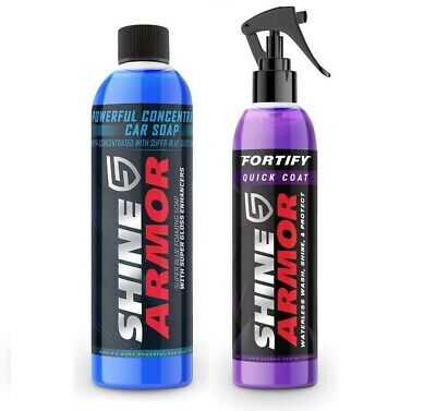 $56.95 • Buy SHINE ARMOR Fortify Quick Coat & Ultra Concentrated Car Wash Soap, Ceramic Coati