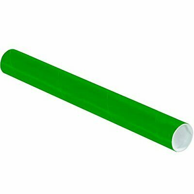 $98.85 • Buy Tape Logic TLP2018G Mailing Tubes With Caps 2  X 18  Green Pack Of 50