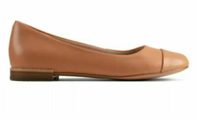 £29.99 • Buy New In Box Clarks Festival Gold Tan / Peach Flat Ballerina Pumps Shoes ❤️