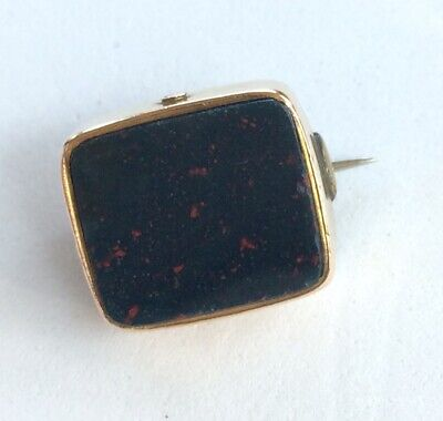 £650 • Buy 18ct Gold Blood Stone Carnelian Fob Tie Pin From Signet Ring 16 X 14 Cm