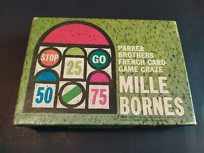 $18.95 • Buy Vintage Parker Brothers 1964 French Racing Card Game Mille Bornes Complete Set