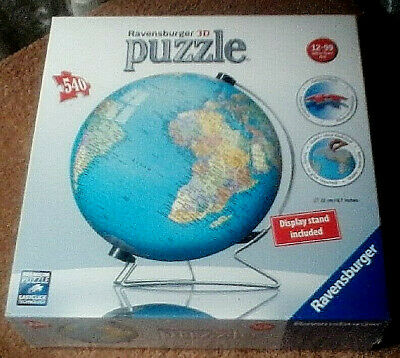 $20 • Buy Puzzle Ball 540 Pieces The Earth 3D With Stand New Factory Sealed  Ravensburger