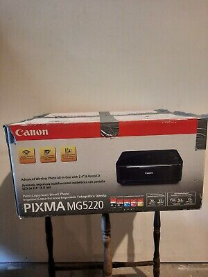 AU138.60 • Buy Canon PIXMA MG5220 All In One Color/photo Printer With Partial Ink