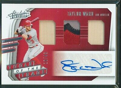 AU6.78 • Buy 2021 Panini Absolute Tools Of The Trade TAYLOR WARD 3CL Patch Bat AUTO /49