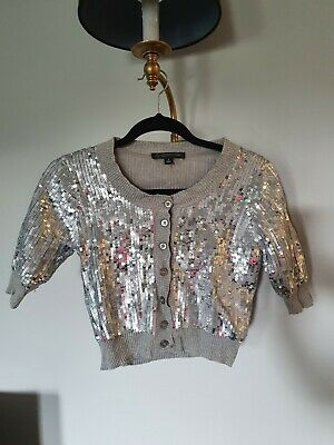 AU13 • Buy Forever New Sequin Top Cardi Size 8