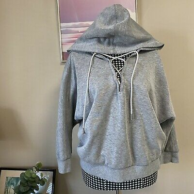 AU10 • Buy Puma Drycell Grey Laceup Hoodie Size M