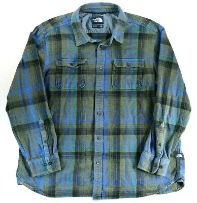 $24.95 • Buy North Face Men's Button Up Plaid Shirt 2XL Long Sleeve Hiking Camping Flannel