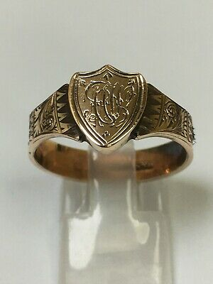 £185 • Buy Antique Victorian 9 Carat Gold & Woven Hair Mourning Band Ring
