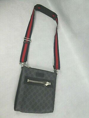 AU485.82 • Buy Gucci Messenger Shoulder Bag Black Pattern Small With Strap Used Good Condition