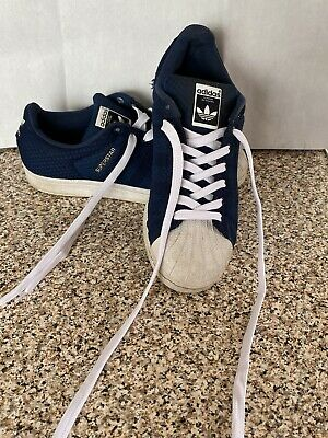 $ CDN25.97 • Buy Mens Adidas Superstar Textile Trainers Size 7 UK In  Blue