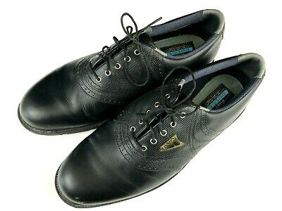 $48.79 • Buy FootJoy 59980 Dry ICE Black Leather Softspikes Golf Shoes Mens 12 Wide Free Ship