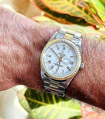 $ CDN4594.80 • Buy Genuine Rolex Datejust Oyster Perpetual 6827 Two-tone Vintage Watch 31 Mm Mens